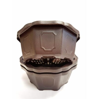 3 x 15cmx15cmx6cm Plastic Pot