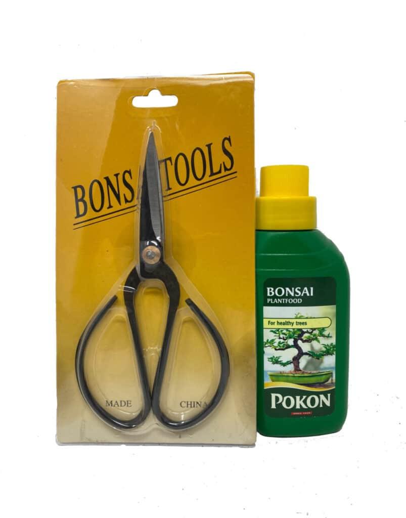 bonsai scissors and feed